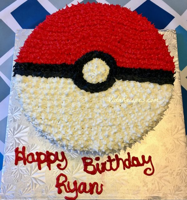 Pokemon Cake Recipe
