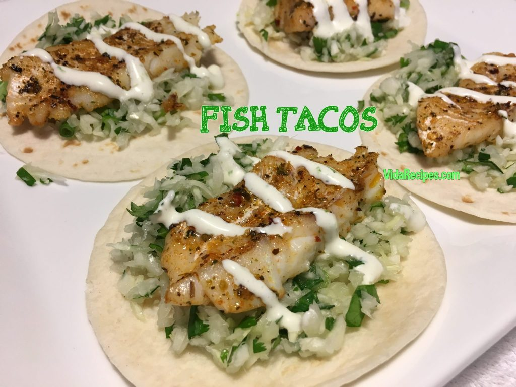 Spicy fish tacos with cabbage slaw and sauce for Fish taco recipe