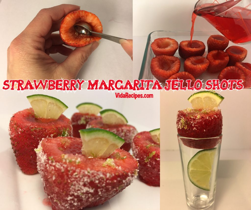 Strawberry margarita Jell-O Shots