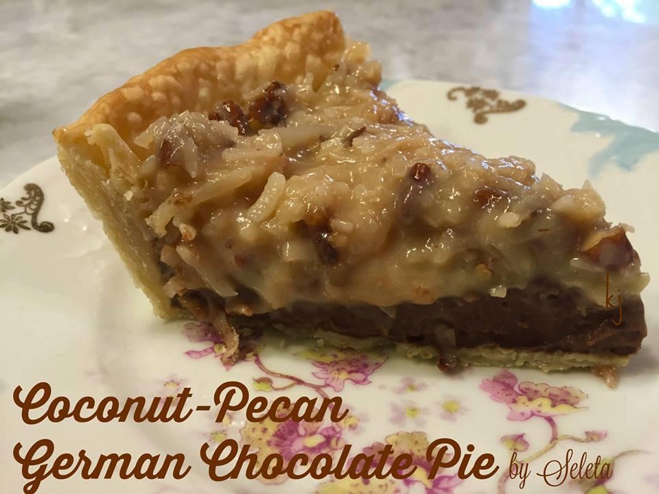 Coconut Pecan German Chocolate Pie