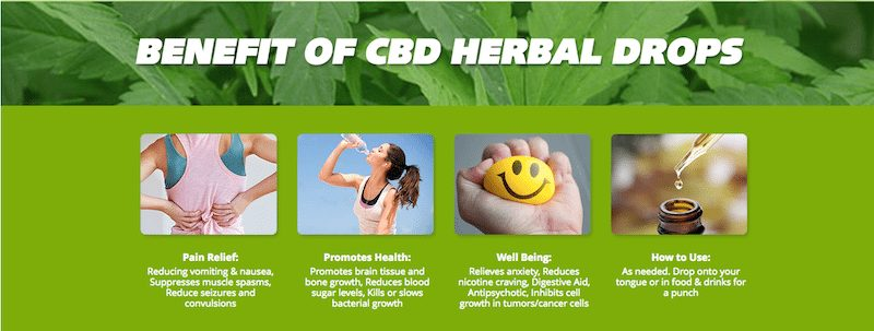 Benefits CBD Drops Hemp Worx