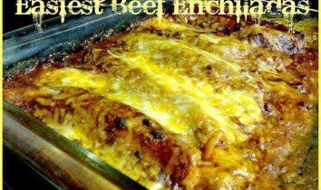 Easiest Beef Enchiladas
