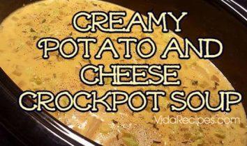 Creamy Potato and Cheese Crockpot Soup (1)