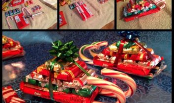 Christmas Sled made of Candy