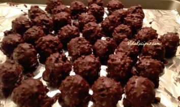 Double Chocolate Coconut Cherry Balls