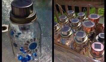 DIY Solar Lights Out of Mason Jars
