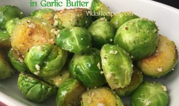 Healthy Brussels Sprouts in Garlic Butter