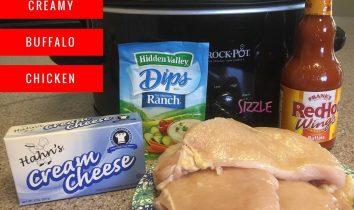 Crockpot Creamy Buffalo Chicken