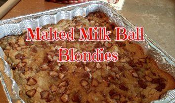 Malted Milk Ball Blondies